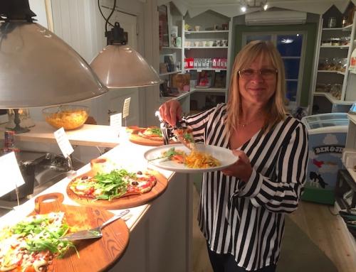 Pizzabuffé på Lill-Babs